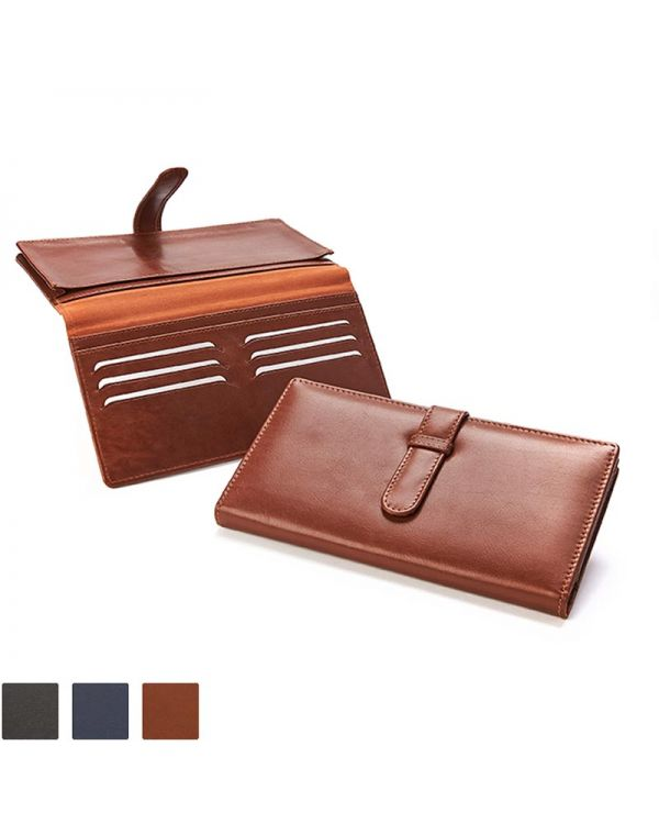 Sandringham Nappa Leather Deluxe Travel Wallet With Strap