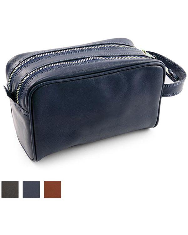 Sandringham Nappa Leather Wash Bag