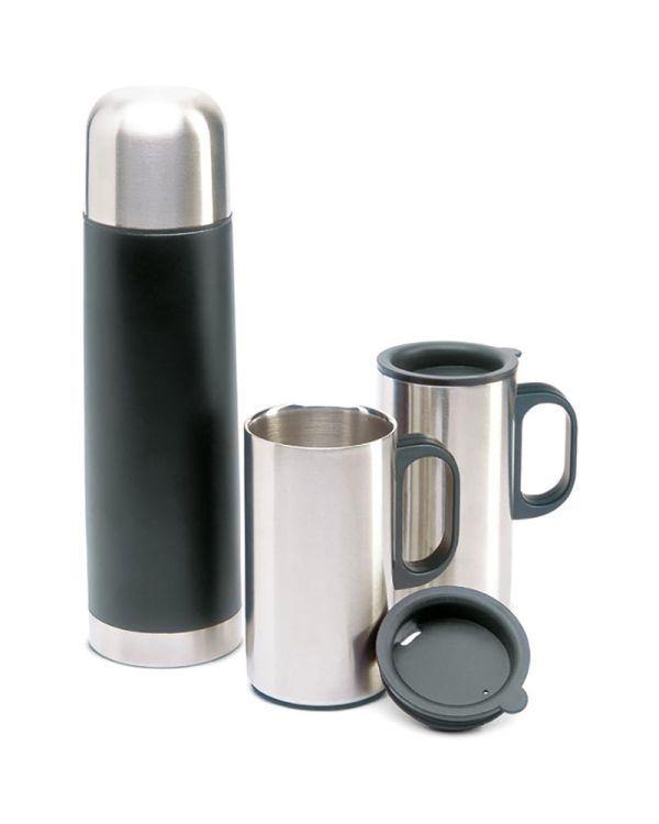 Isoset Insulation Flask With 2 Mugs