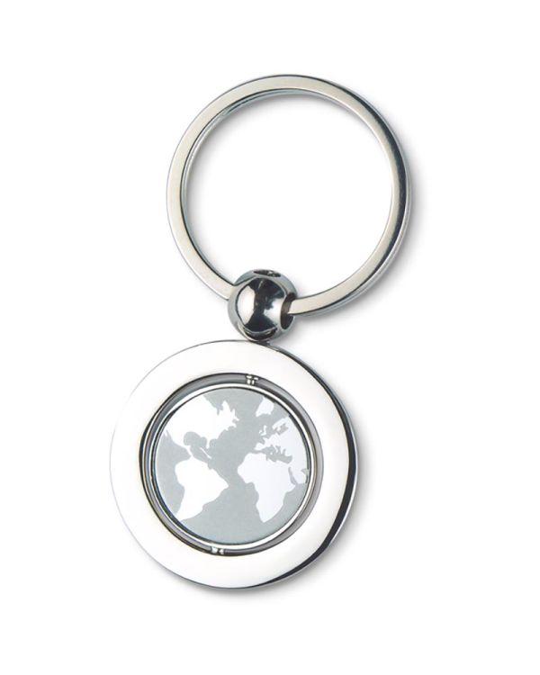 Globy Globe Metal Key Ring