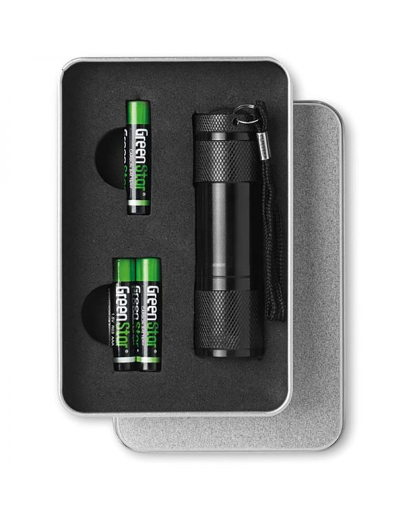 Led Plus LED Torch In Tin Box