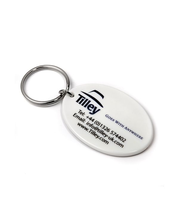 50mm Oval Keyring