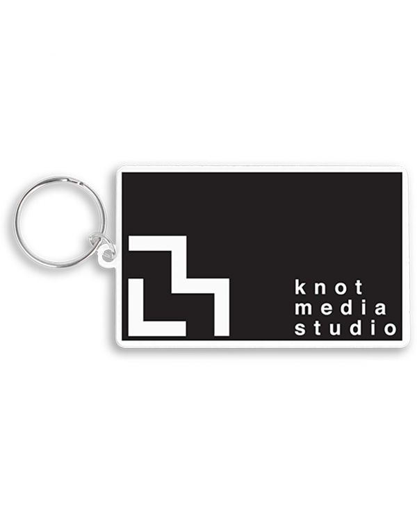 Recycled 80mm Rectangle Keyring