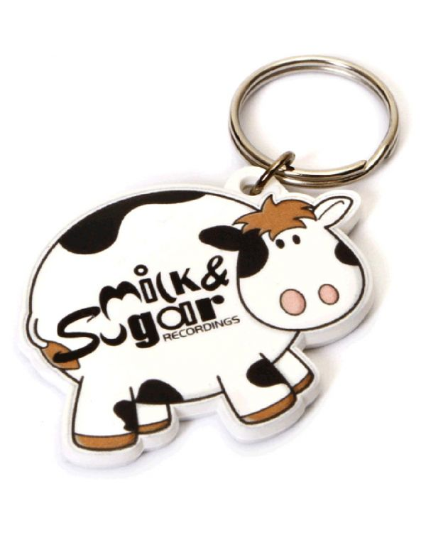 Recycled Cow Shape Keyring