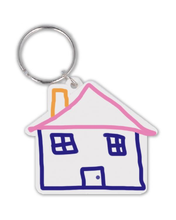Recycled House Shape Keyring