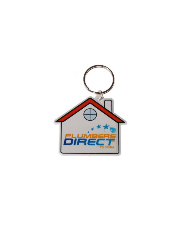 HOUSE Shaped Keyring