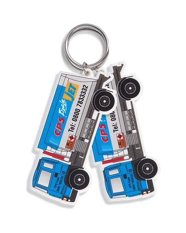 Recycled Lorry Shape Keyring