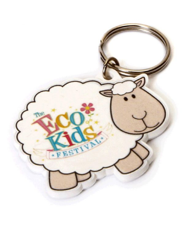Recycled Sheep Shape Keyring