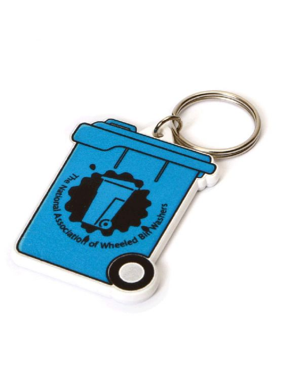 Recycled Wheeliebin Shape Keyring