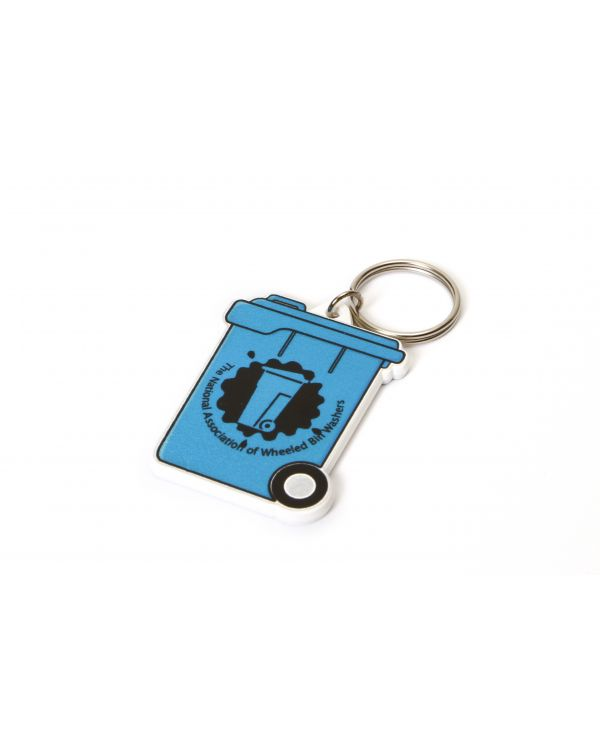WHEELIEBIN Shaped Keyring