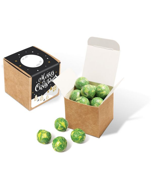 Winter Collection 2020 - Eco Kraft Cube - Chocolate Sprouts