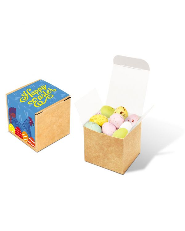 Easter - Eco Kraft Cube - Speckled Eggs