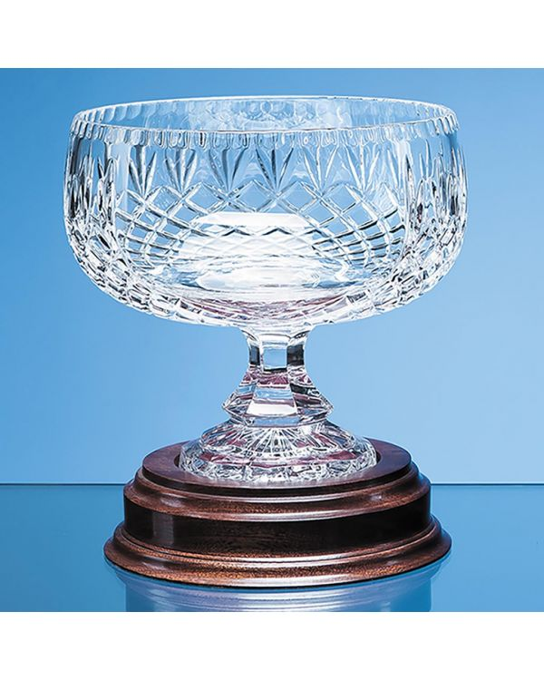20cm Lead Crystal Footed Bowl