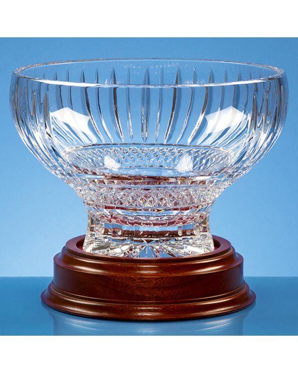 22cm Lead Crystal Heeled Presentation Bowl