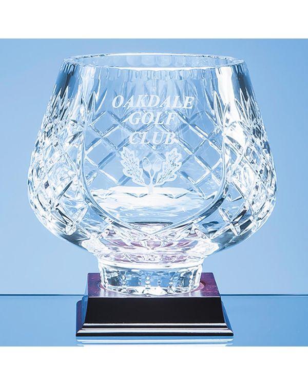 18cm Lead Crystal Panelled Tulip Bowl