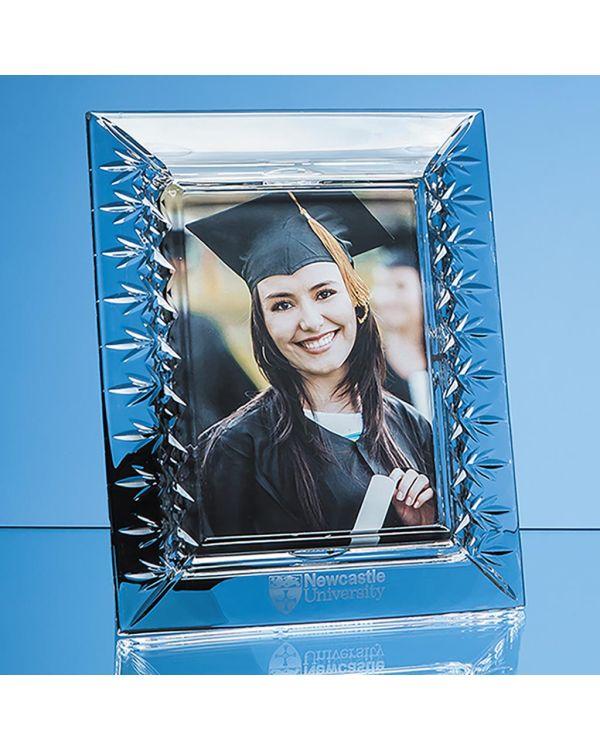 "25cm Lead Crystal Panelled Photo Frame for 5"" x 7"" Photo, V"