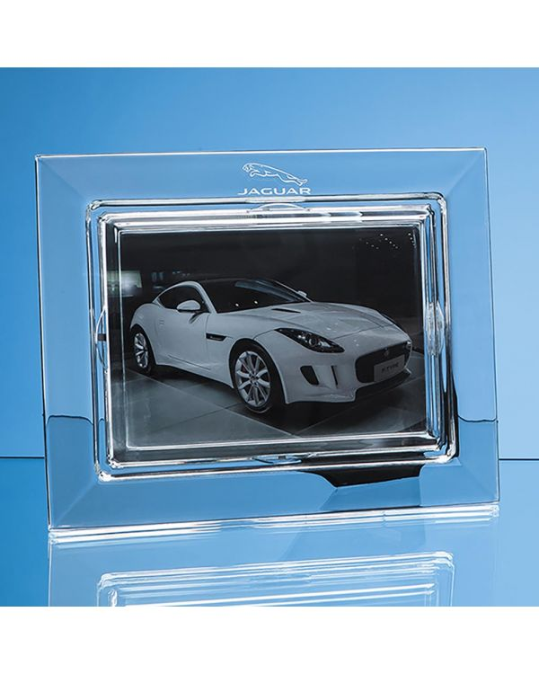 "25cm Lead Crystal Plain Photo Frame for 7"" x 5"" Photo, H or V"