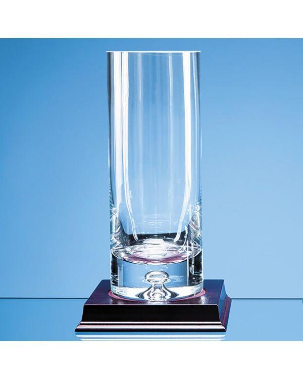 25cm Handmade Bubble Base Cylinder Vase