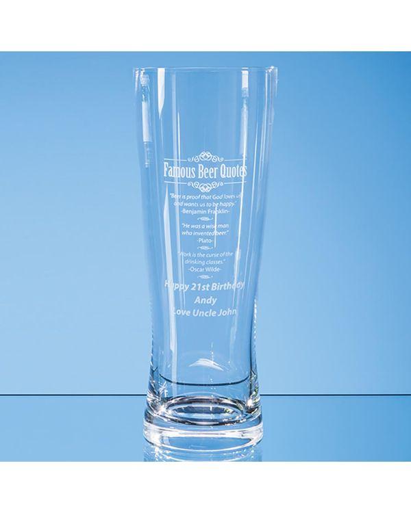 0.7ltr Large Handmade Beer Glass
