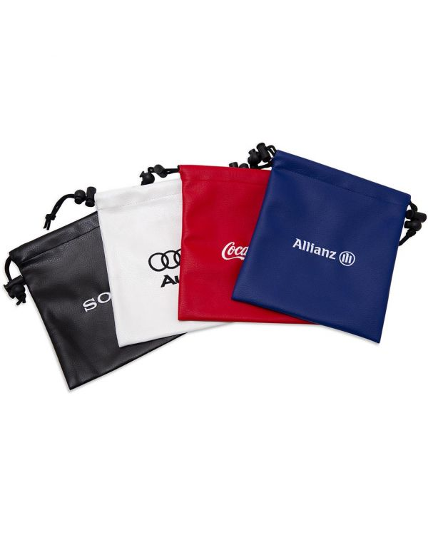 Leatherette Embroidered Drawstring Golf Gift Bag