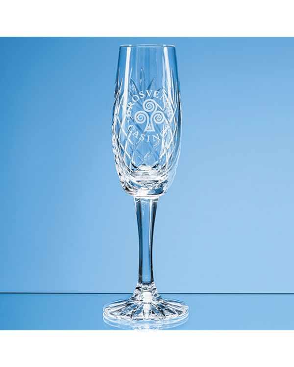 165ml Glencoe Lead Crystal Panel Champagne Flute
