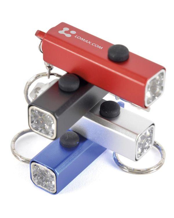 Cuboid Torch Keyring