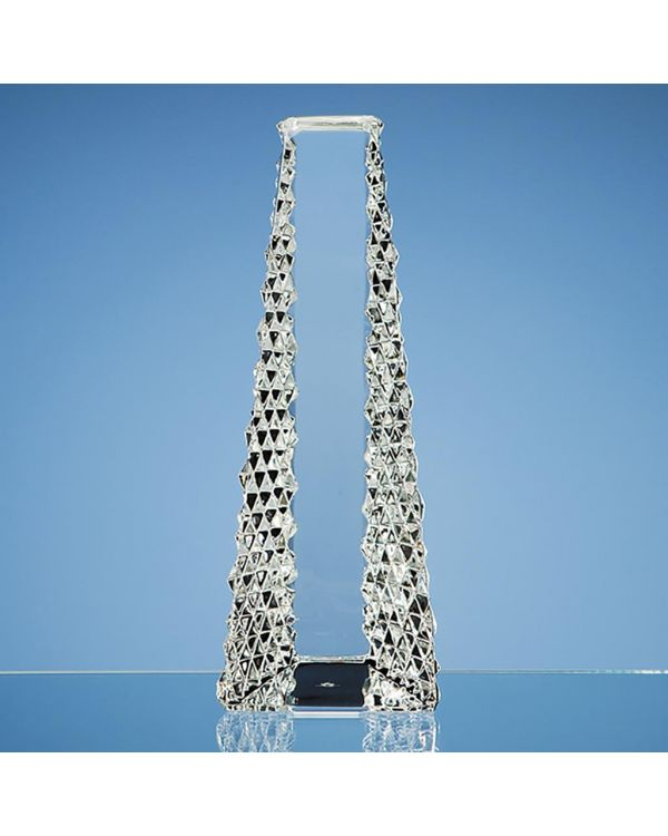 25cm Mario Cioni Lead Crystal Tower Award
