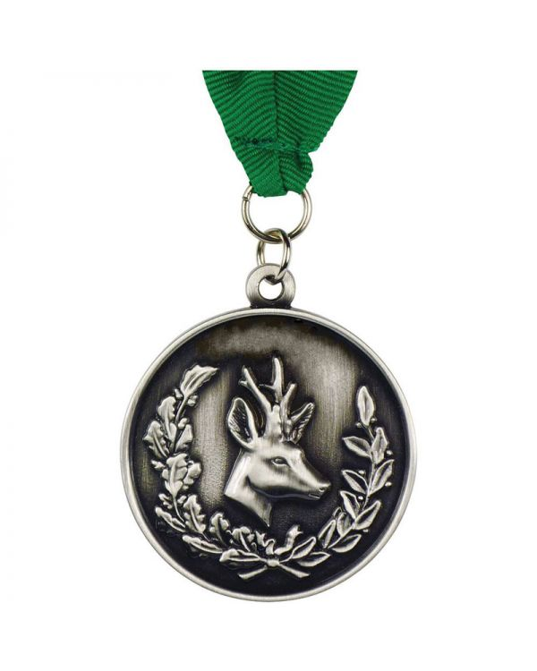 Alloy Injection and Nickel Plated Medal (50mm)