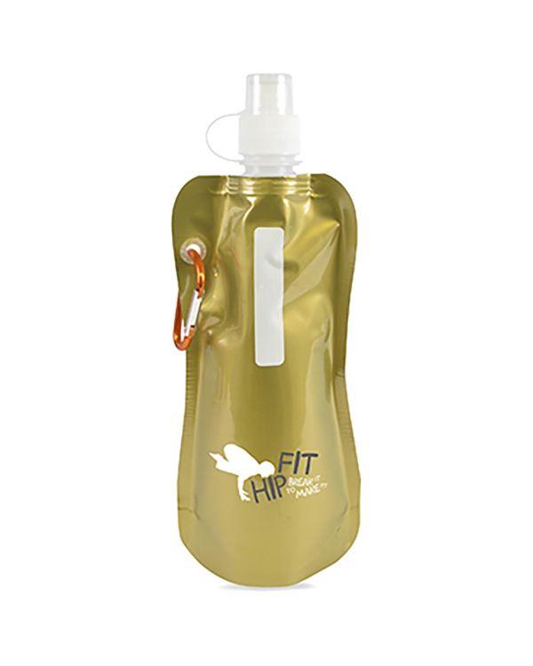 Metallic fold up bottle