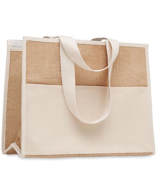Campo De Geli Jute And Canvas Cooler Bag