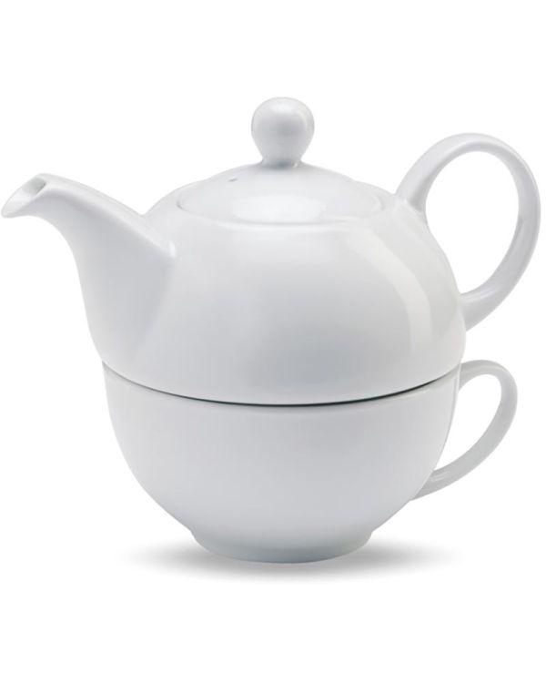 Tea Time Teapot And Cup Set