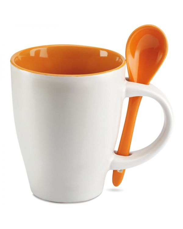 Dual Mug With Spoon