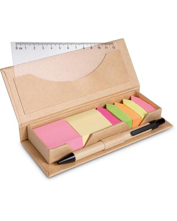 Stibox Desk Set In Brown Paper Box