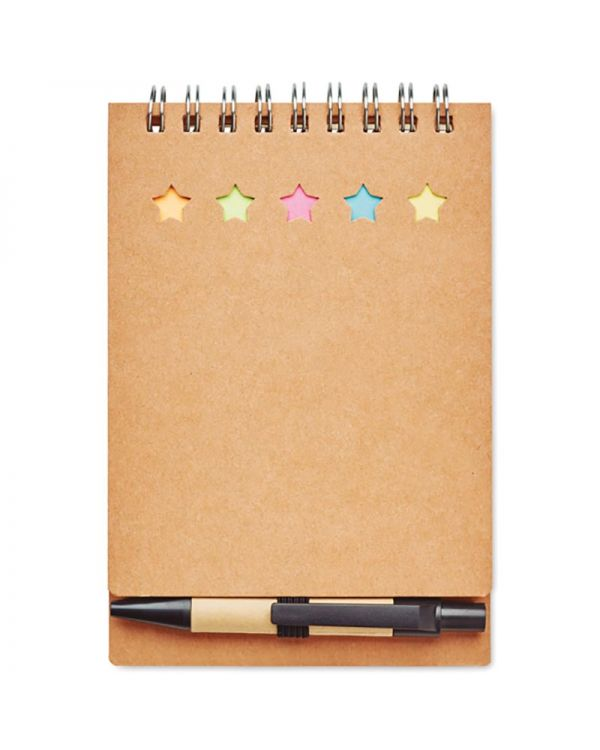 Multibook Notebook With Pen Sticky Notes