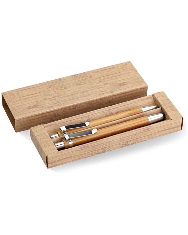 Bambooset Bamboo Pen And Pencil Set
