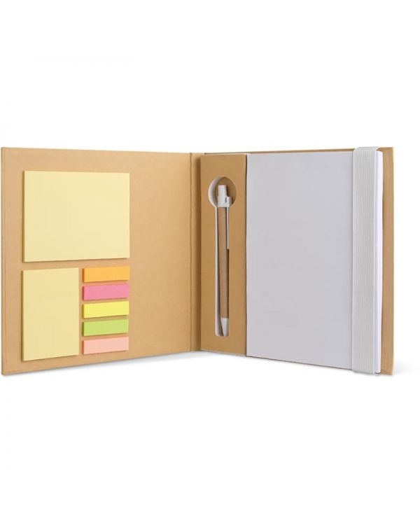 Quincy Notebook With Sticky Notes & Pen