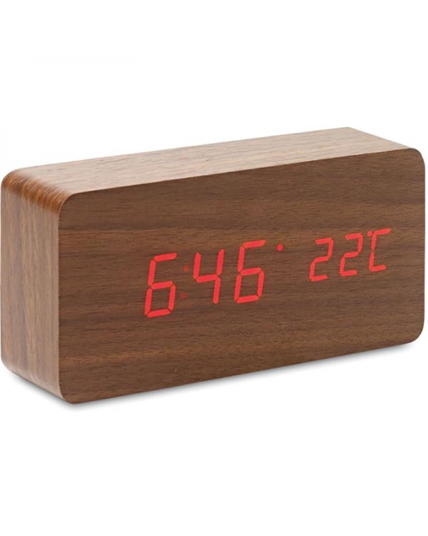 Buenos Aires LED Clock In MDF