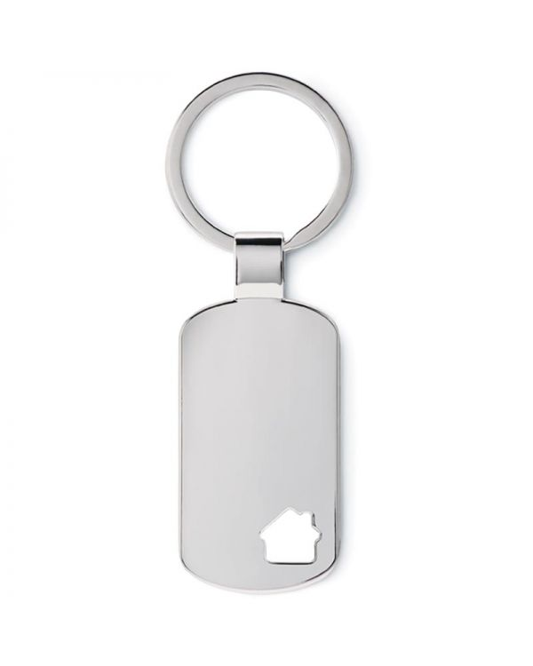 House Key Keyring With House Detail
