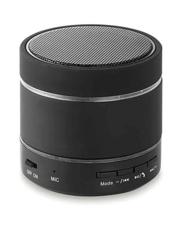 Round Light Bluetooth Speaker With LED Light
