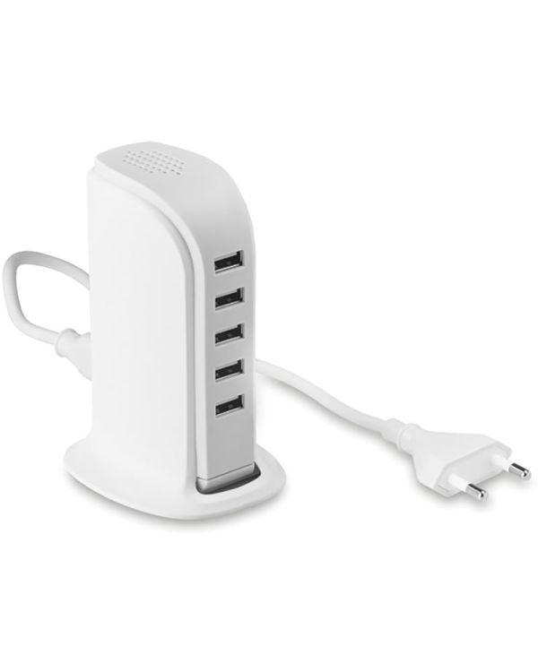 Buildy 5 Port USB Hub With Ac Adaptor