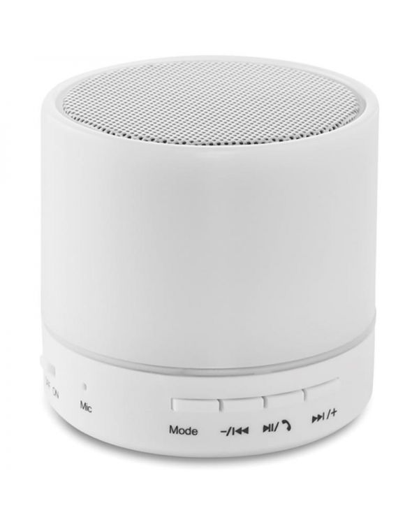 Round White Round Wireless Speaker Led