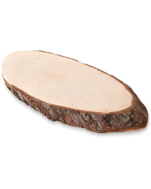 Ellwood Rundam Oval Wooden Board With Bark
