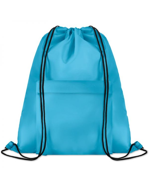 Pocket Shoop Large Drawstring Bag