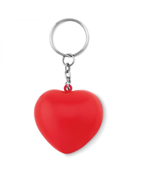 Lovy Ring Keyring With PU Heart