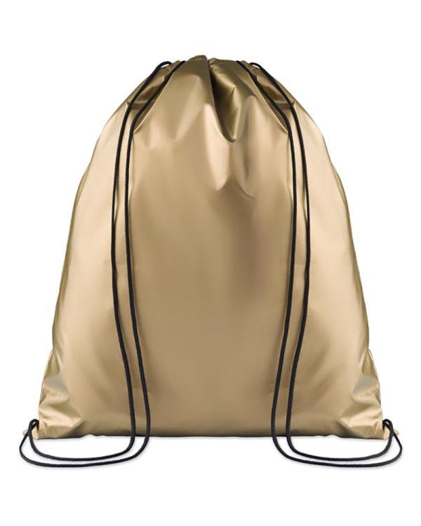 New York Drawstring Bag Shiny Coating