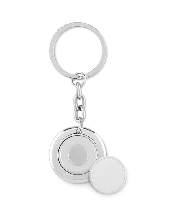 Flat Ring Keyring With Token