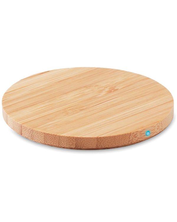 Rundo Round Wireless Charger Bamboo
