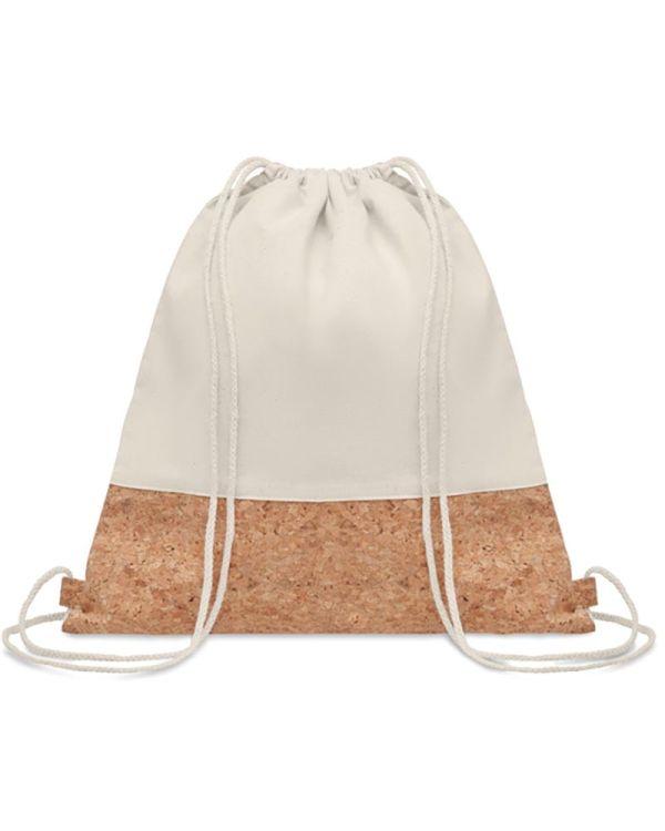 Illa Drawstring Bag With Cork Details