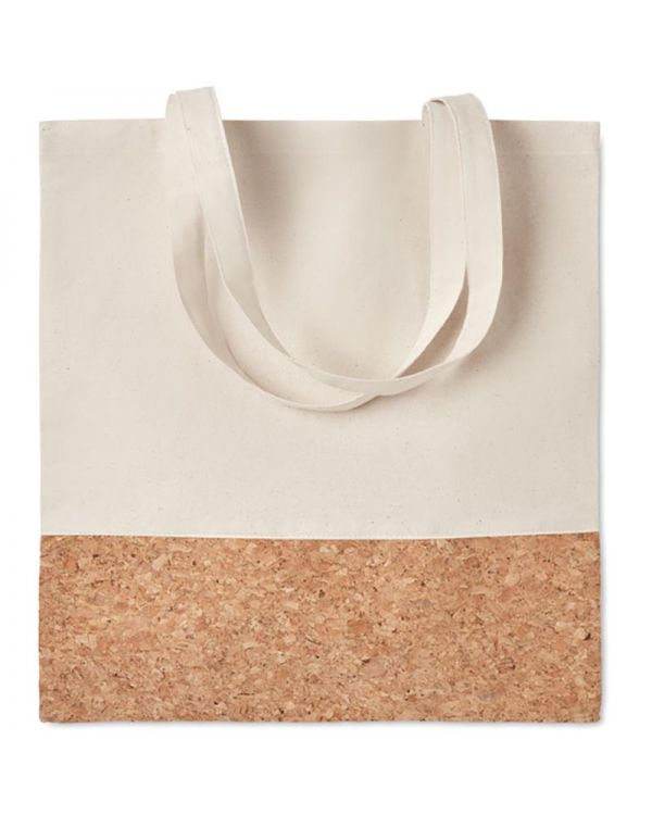 Illa Tote Shopping Bag With Cork Details