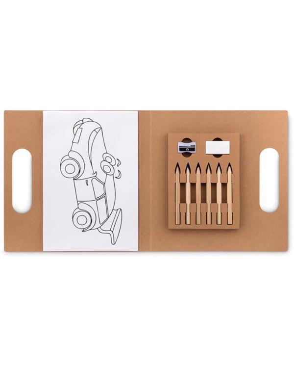 Folder2 Go Colouring Set With 6 Pencils